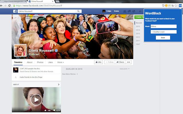 WordBlock for Facebook