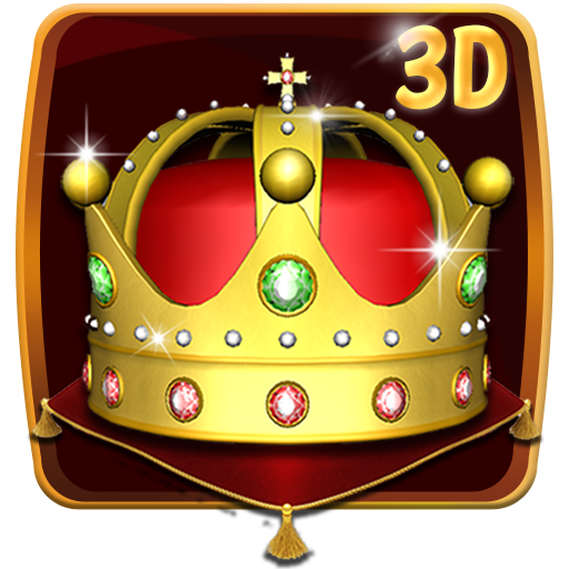 Gold King Crown 3D Theme