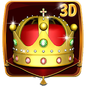 Gold King Crown 3D