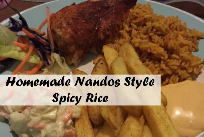 Fakeaway Nandos Spicy Rice Recipe