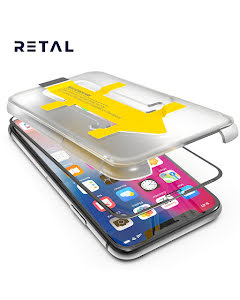 3D Full Cover Screen Protector with Easy Applicator for iPhone X/XS