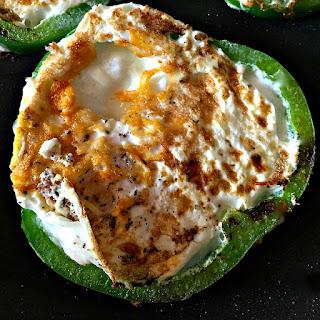 Fried Eggs in Green Pepper