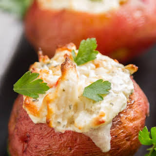 Crab Stuffed Baked Potatoes.