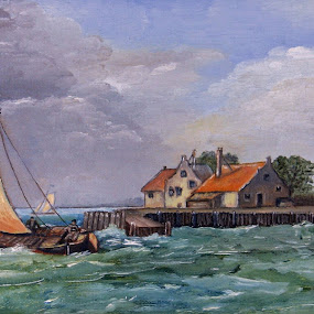 Old Dutch by Bob Has - Painting All Painting ( vessel, old, holland, dutch, painting )