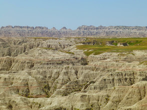 Photo: The layers also expose fossils. No dinosaurs, though, as this part was underwater during the Mesozoic Era.