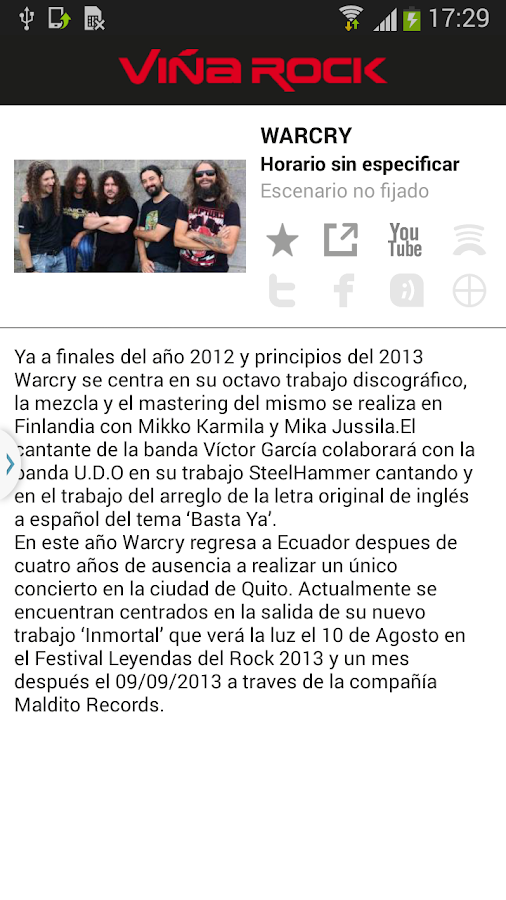 Viña Rock - screenshot