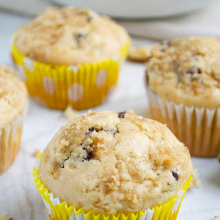 Peanut Butter Banana Chocolate Chip Muffins with Walnuts.