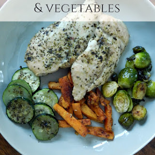 Easy Oven Baked Chicken and Vegetables.