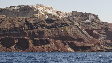 Photo: Approaching Santorini from Oia