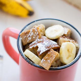 Vegan Banana French Toast in a Mug