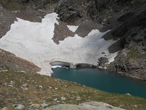 """Photo: Extrémité du """"fjord"""" du lac duMilieu."""