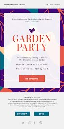 Shoreline Garden Party - Party Invitation item