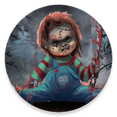 20.  Scary Doll Halloween Theme - Wallpapers and Icons