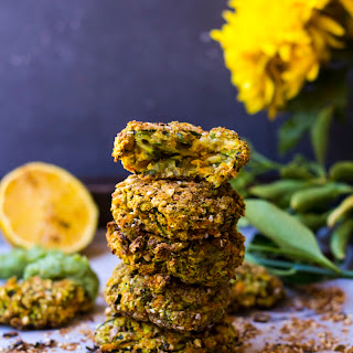 Dukkah-crusted Baked Vegetable Fritters