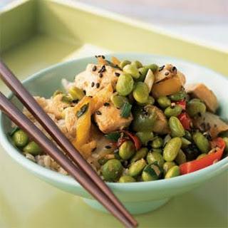 Sesame Chicken Edamame Bowl.