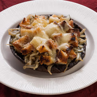 Portobello Mushrooms Stuffed with French Onion Soup
