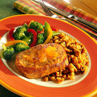 Ginger Pork and Stuffing Skillet.