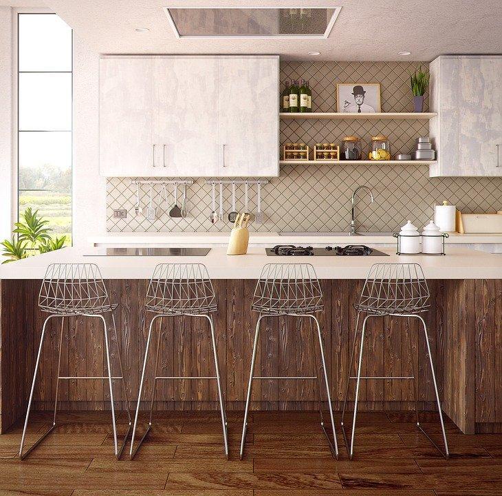 Arquitetura, Interior, Mobiliário, Cozinha, 3D