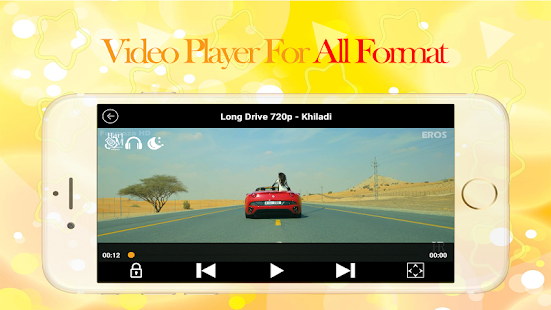 Video player : smooth & Background Player - náhled