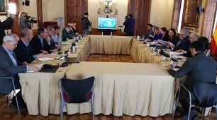 Reunión de la Mesa de Interlocución presidida por Carmen Crespo