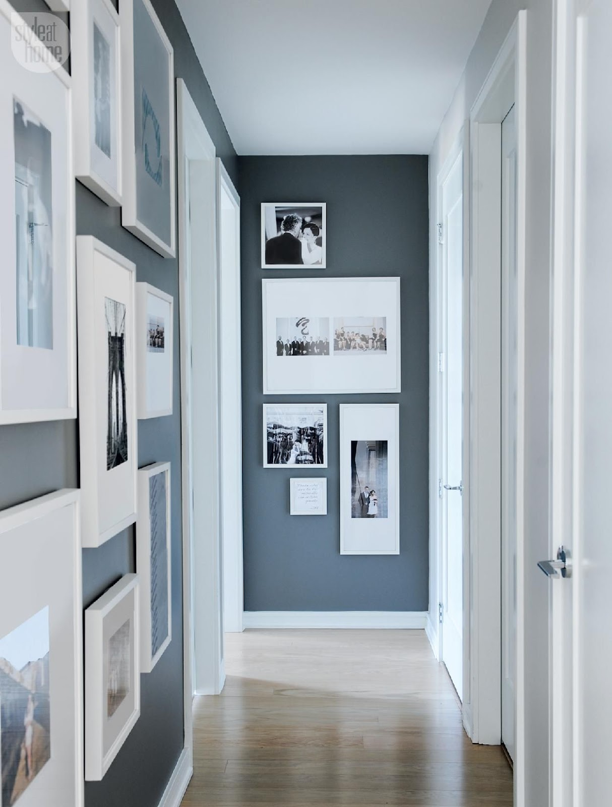 Hang A Cozy Gallery Wall Ideas For An Empty Hallway Wall