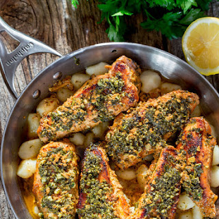 Garlic and Parsley Butter Chicken with Gnocchi