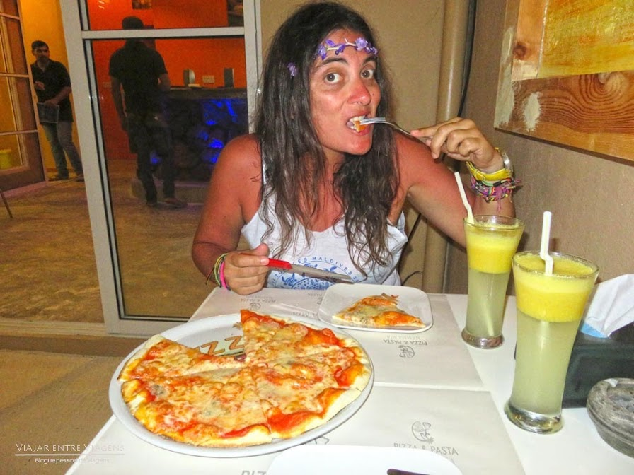 comer nas Maldivas