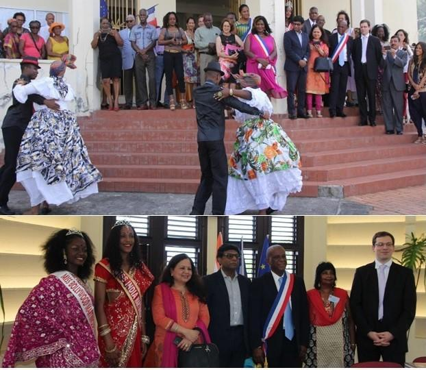 Indian Ambassador to France, Dr. Mohan Kumar in Martinique