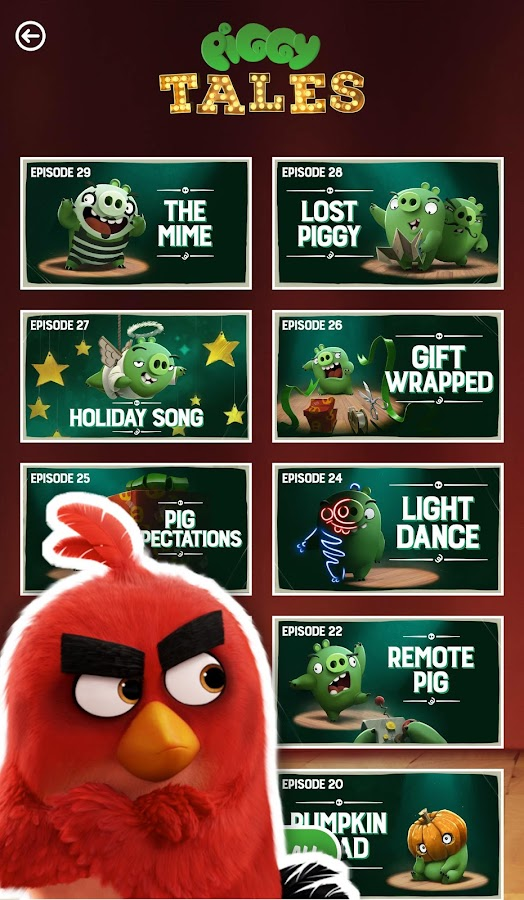ToonsTV: Angry Birds video app- screenshot