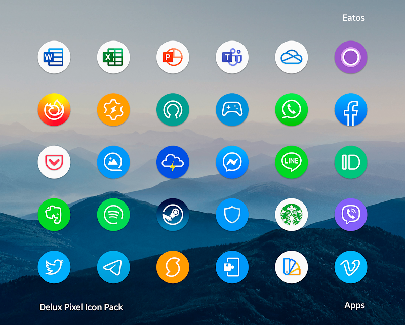 Delux - Pixel Icon pack Screenshot 2