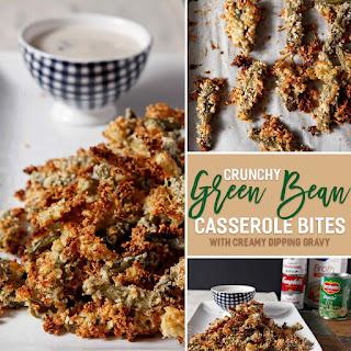 Crunchy Green Bean Casserole Bites with Creamy Dipping Gravy