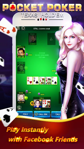 Pocket Poker Pro: One Handed. screenshot 1