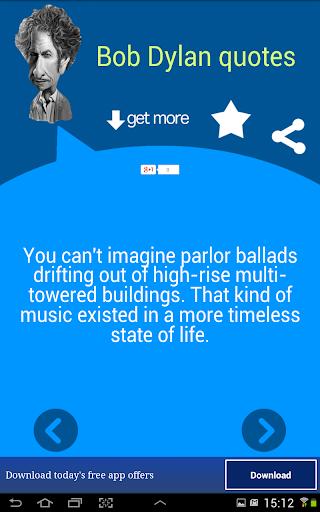 玩免費書籍APP|下載Bob Dylan Quotes app不用錢|硬是要APP