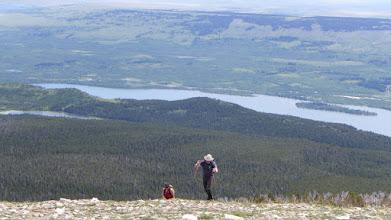 Photo: Jason up onto East Flattop Mountain