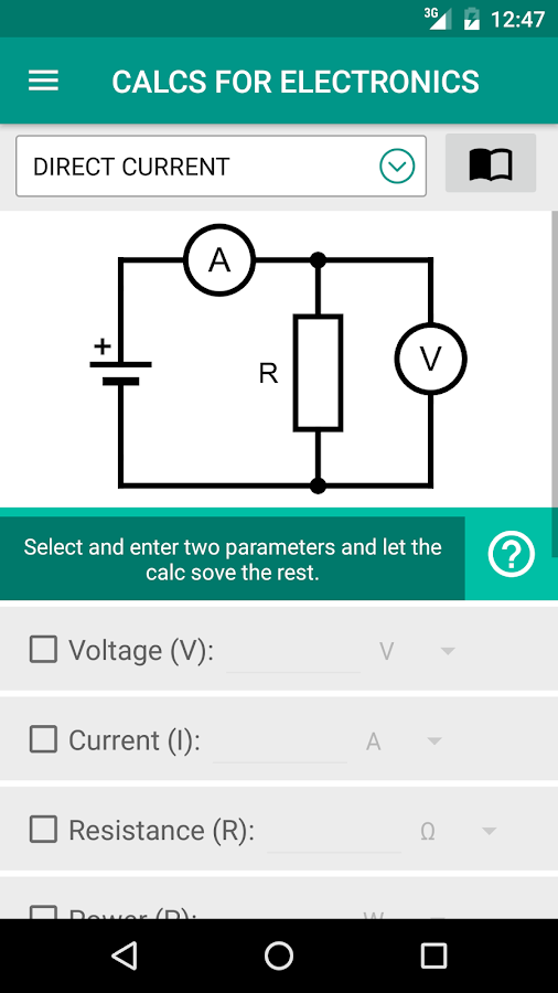 Electrical Electronics Calc- screenshot