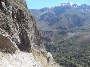 Photo: Colca-Schicht; 1100 m Abstieg