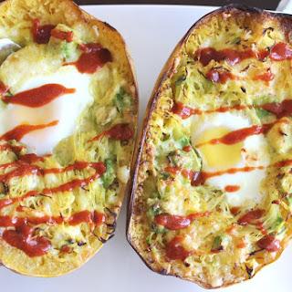 Avocado + Egg Spaghetti Squash Bowls