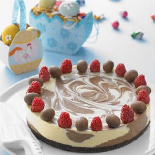 Dark and White Chocolate Cheesecake