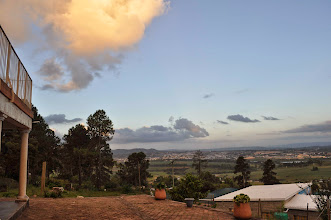 Photo: Stunning vista from the veranda of the training center out over the fertile valley.
