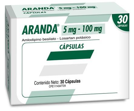 Amlodipina + Losartán Potásico Aranda Bz 5/100mg