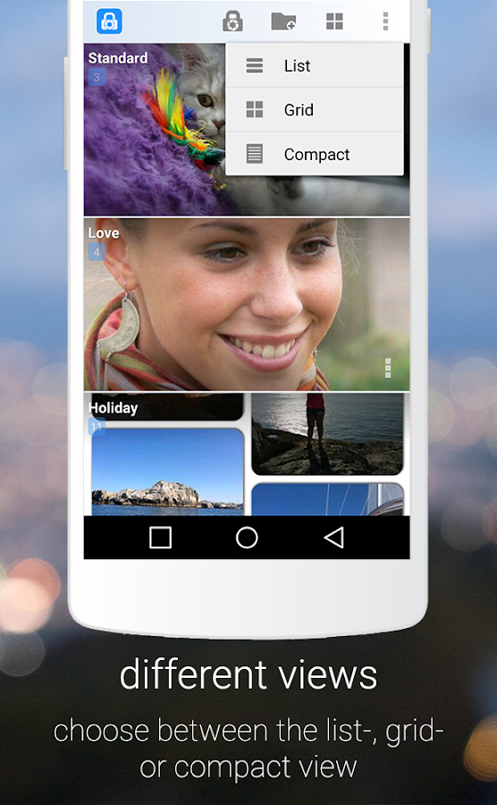 Hide pictures with LockMyPix- screenshot