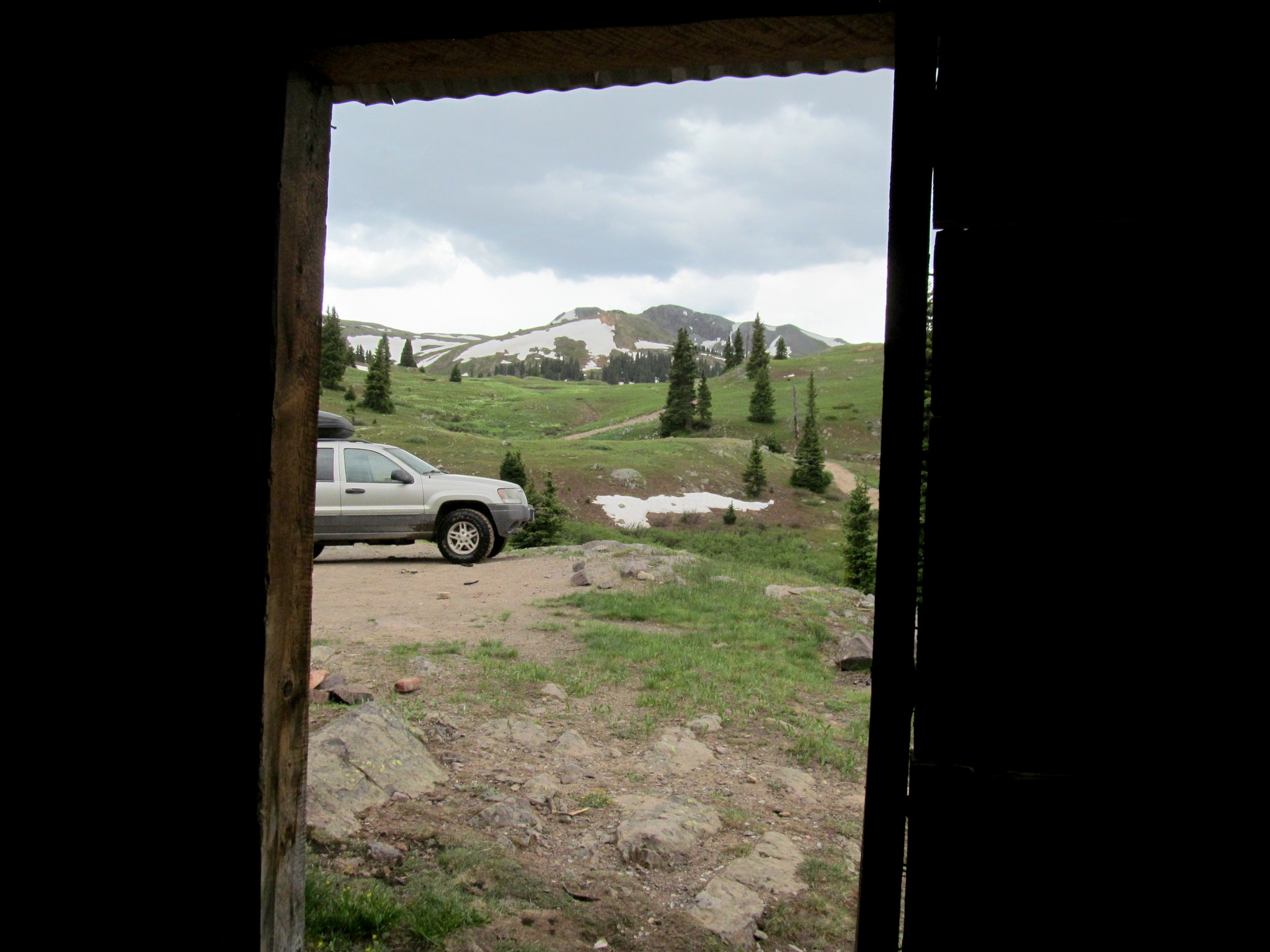 Photo: Jeep through the doorway