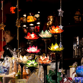 Market Stall by Carol Henson - Public Holidays Christmas ( candle, december, lotus, lamp holders, 2015, birmingham, christmas, holidays, flickr 241 )