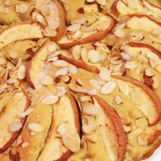 Apple Cake Topped with Almonds.