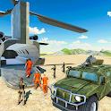 Army Jail Prisoner & Army Plane Car Transport Game icon