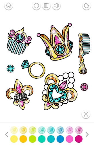 Girls Coloring Book for Kids Glitter apkpoly screenshots 9