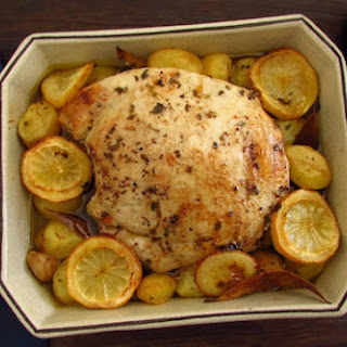 Turkey Tenderloin In The Oven With Lemon And Cinnamon.