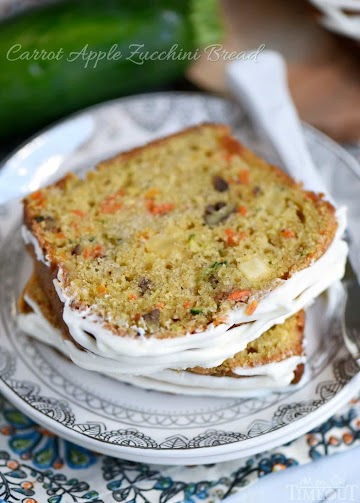 Carrot Apple Zucchini Bread Recipe