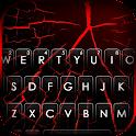 Black Red Crack Keyboard Background icon