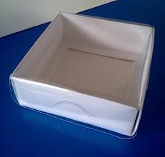 Photo: Caixa protótipo (23) - pequena e para usos diversos (transparência para a visualização do produto). SPP 389 - 94mm x 92mm x 35mm